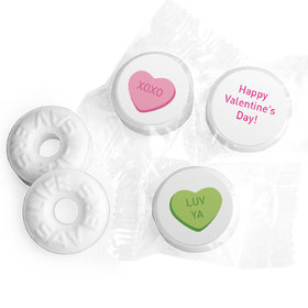 Valentine's Day Personalized Life Savers Mints Conversation Hearts Kid's School
