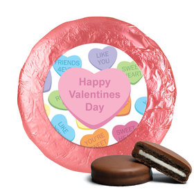 Valentine's Day Conversation Heart Milk Chocolate Covered Oreos