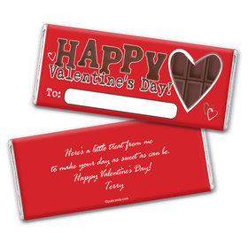 Valentine's Day Personalized Chocolate Bar Wrappers Chocolate Heart