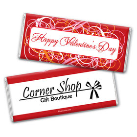 Valentine's Day Personalized Chocolate Bar Wrappers Swirrls