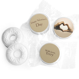 Valentine's Day Personalized Life Savers Mints Hands of Love