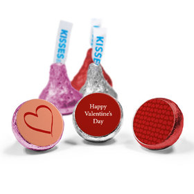 Valentine's Day Personalized Love Mix Hershey's Kisses X's and O's in Love Assembled Kisses (50 Pack)