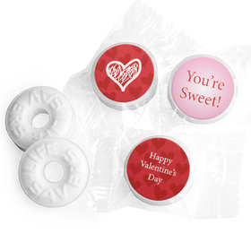 Valentine's Day Personalized Life Savers Mints Heart Confetti
