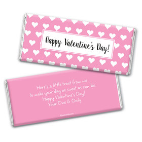 Valentine's Day Personalized Chocolate Bar Wrappers Hearts