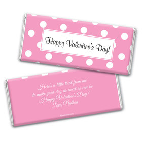 Valentine's Day Personalized Chocolate Bar Wrappers Polka Dots