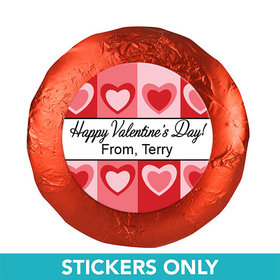 "Valentine's Day Fading Hearts 1.25"" Stickers (48 Stickers)"