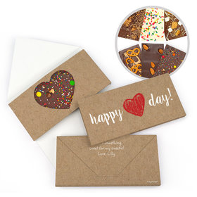 Personalized Valentine's Day Hand Drawn Heart Gourmet Infused Belgian Chocolate Bars (3.5oz)