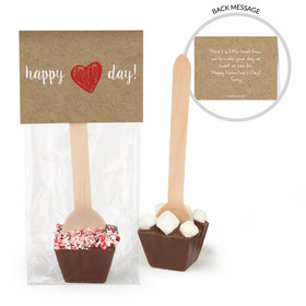 Personalized Valentine's Day Drawn Heart Hot Chocolate Spoon