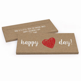 Deluxe Personalized Valentine's Day Hand Drawn Heart Candy Bar Cover
