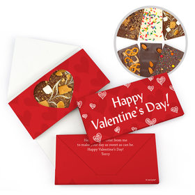 Personalized Valentine's Day Scribble Heart Gourmet Infused Belgian Chocolate Bars (3.5oz)