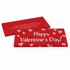 Deluxe Personalized Valentine's Day Scribble Hearts Candy Bar Favor Box