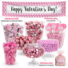Personalized Valentine's Day Hearts Parade Deluxe Candy Buffet