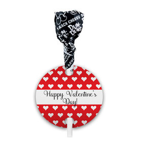 Valentine's Day Little Hearts Dum Dums with Gift Tag (75 pops)