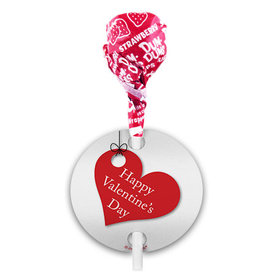 Valentine's Day Hanging Hearts Dum Dums with Gift Tag (75 pops)