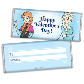 Fill in the Blank Valentine's Day Frozen Themed Chocolate Bar & Wrapper