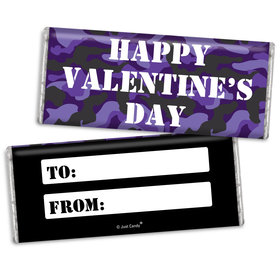 Fill in the Blank Valentine's Day Camo Hershey's Chocolate Bar & Wrapper