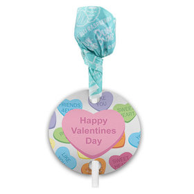 Conversation Hearts Happy Valentine's Day Dum Dums with Gift Tag (75 pops)