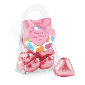 Valentine's Day Conversation Hearts Chocolate Hearts Purse and Gift Tag
