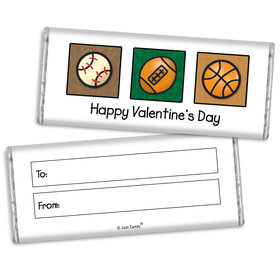 Fill in the Blank Valentine's Day Sports Chocolate Bar & Wrapper
