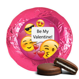 Personalized Valentine's Day Emoji Milk Chocolate Covered Oreos