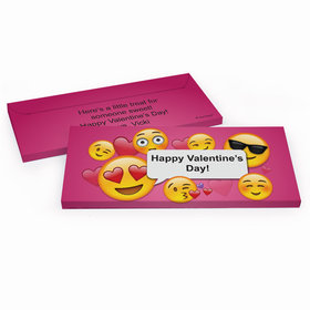 Deluxe Personalized Valentine's Day Emoji Valentine Candy Bar Favor Box