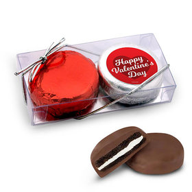 Valentine's Day 2Pk Script Heart Chocolate Covered Oreo Cookies