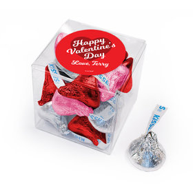 Personalized Valentine's Day Script Heart Hershey's Kisses Gift Box