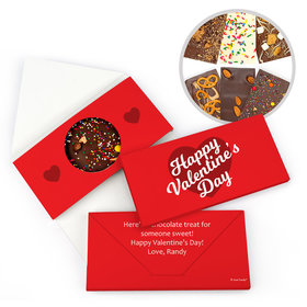 Personalized Valentine's Day Script Heart Gourmet Infused Belgian Chocolate Bars (3.5oz)