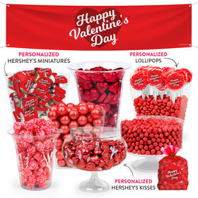 Personalized Valentine's Day Script Heart Deluxe Candy Buffet