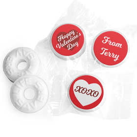 Personalized Valentine's Day Script Heart Life Savers Mints