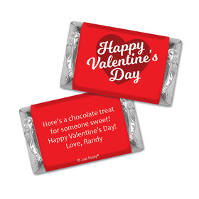 Personalized Valentine's Day Script Heart Hershey's Miniatures Candies