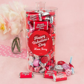 Personalized Valentine's Day Script Heart Canister 2 lb