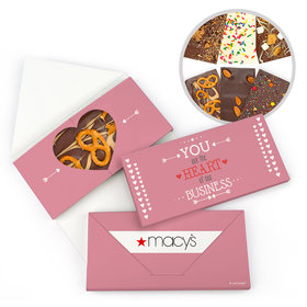 Personalized Valentine's Day Heart of Our Business Gourmet Infused Belgian Chocolate Bars (3.5oz)