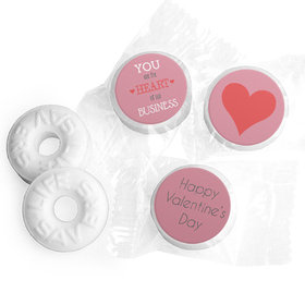 Valentine's Day Heart of Our Business Life Savers Mints