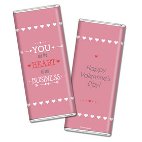 Personalized Valentine's Day Heart of Our Business Hershey's Chocolate Bar & Wrapper (3oz Bar)
