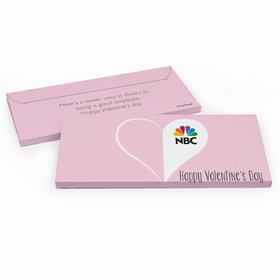 Deluxe Personalized Valentine's Day Add Your Logo Heart Candy Bar Favor Box