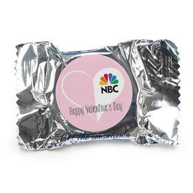 Personalized Valentine's Day Add Your Logo White Heart York Peppermint Patties