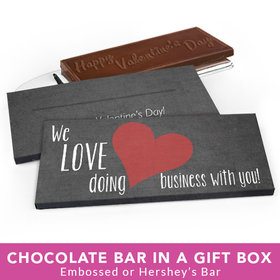 Deluxe Personalized Valentine's Day Business Love Chocolate Bar in Gift Box