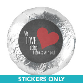 "Valentine's Day Business Love1.25"" Stickers (48 Stickers)"