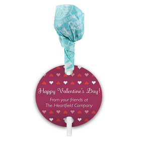 Valentine's Day Hearts Parade Dum Dums with Gift Tag (75 pops)