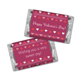 Happy Valentine's Day Hearts Hershey's Miniatures