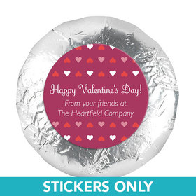 "Personalized Valentine's Day Add Your Logo Hearts1.25"" Stickers (48 Stickers)"