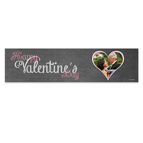 Valentine's Day Hearts In Chalk Banner