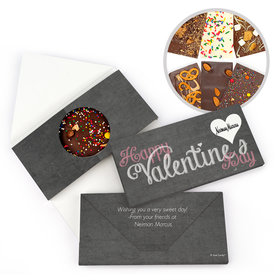 Personalized Valentine's Day Business Heart Gourmet Infused Belgian Chocolate Bars (3.5oz)