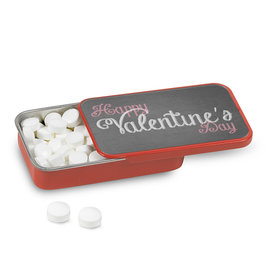 Personalized Valentine's Charcoal Heart Mint Tin (12 Pack)