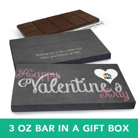 Deluxe Personalized Valentine's Day Charcoal Heart Chocolate Bar in Gift Box (3oz Bar)