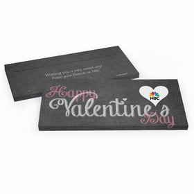 Deluxe Personalized Valentine's Day Charcoal Heart Candy Bar Cover