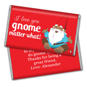 Personalized Valentine's Day Gnome Giant 1lb Hershey's Chocolate Bar