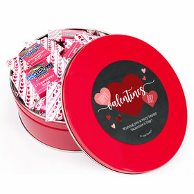 Personalized Valentine's Day Red Tin Ghirardelli Strawberry Bark Squares