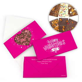 Personalized Valentine's Day Hearts and Hugs Gourmet Infused Belgian Chocolate Bars (3.5oz)